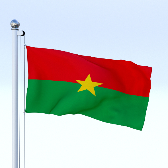 Animated Burkina Faso Flag - 3DOcean Item for Sale