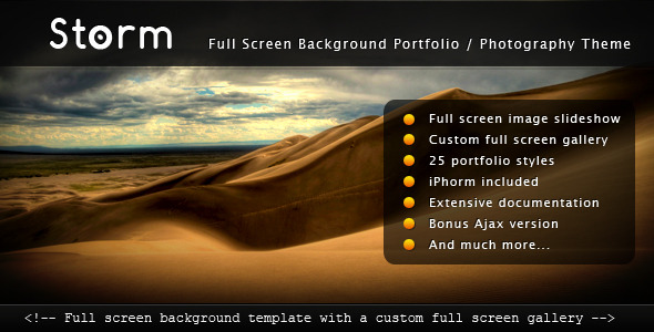 Storm Full Screen Background Template