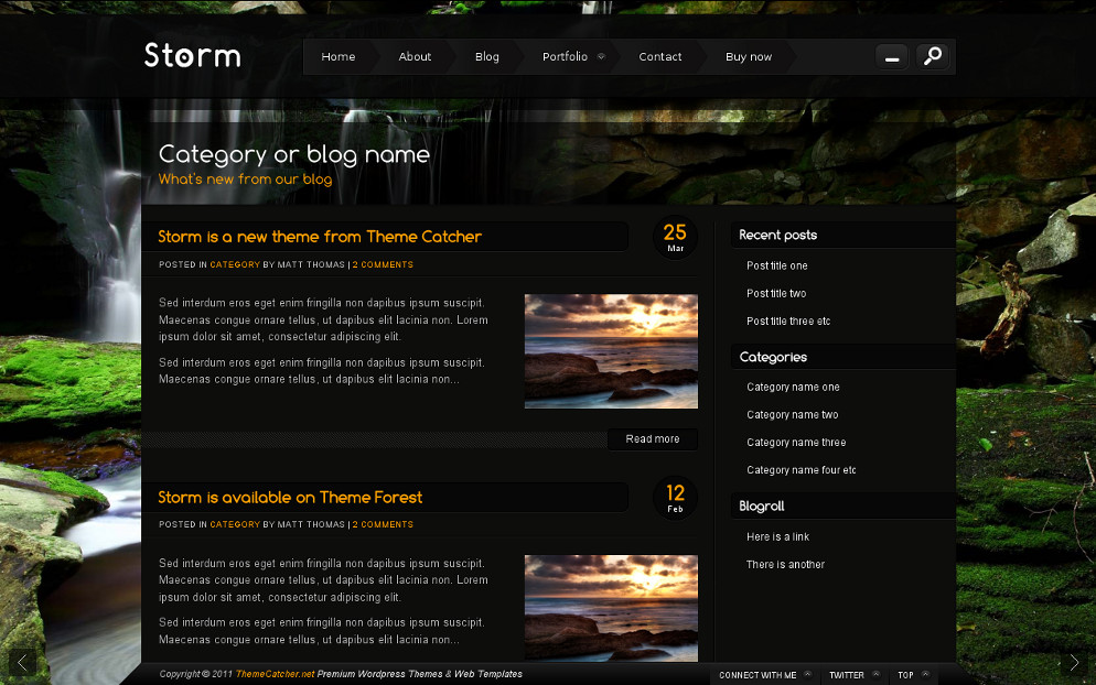 Storm - Full Screen Background Template - Blog