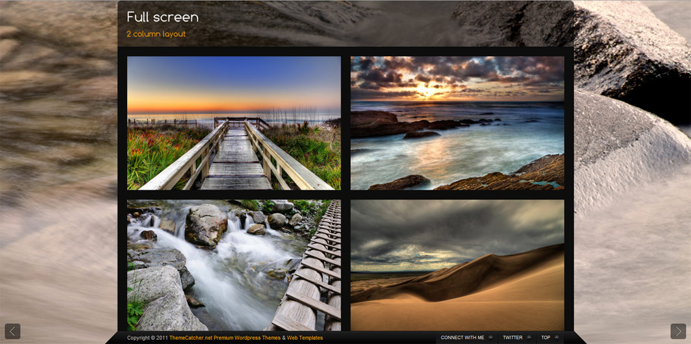 Storm - Full Screen Background Template - 2 Column gallery layout