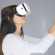 Adorable Woman Working With Virtual Reality Glasses