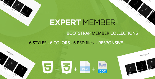 Download Expert - A Bootstrap Member Layout Collections