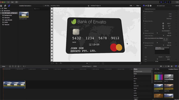 3D Credit Card Builder