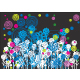 floral background design in white and blue - GraphicRiver Item for Sale