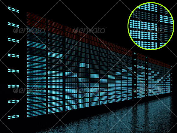 GraphicRiver graphic equalizer display 71760