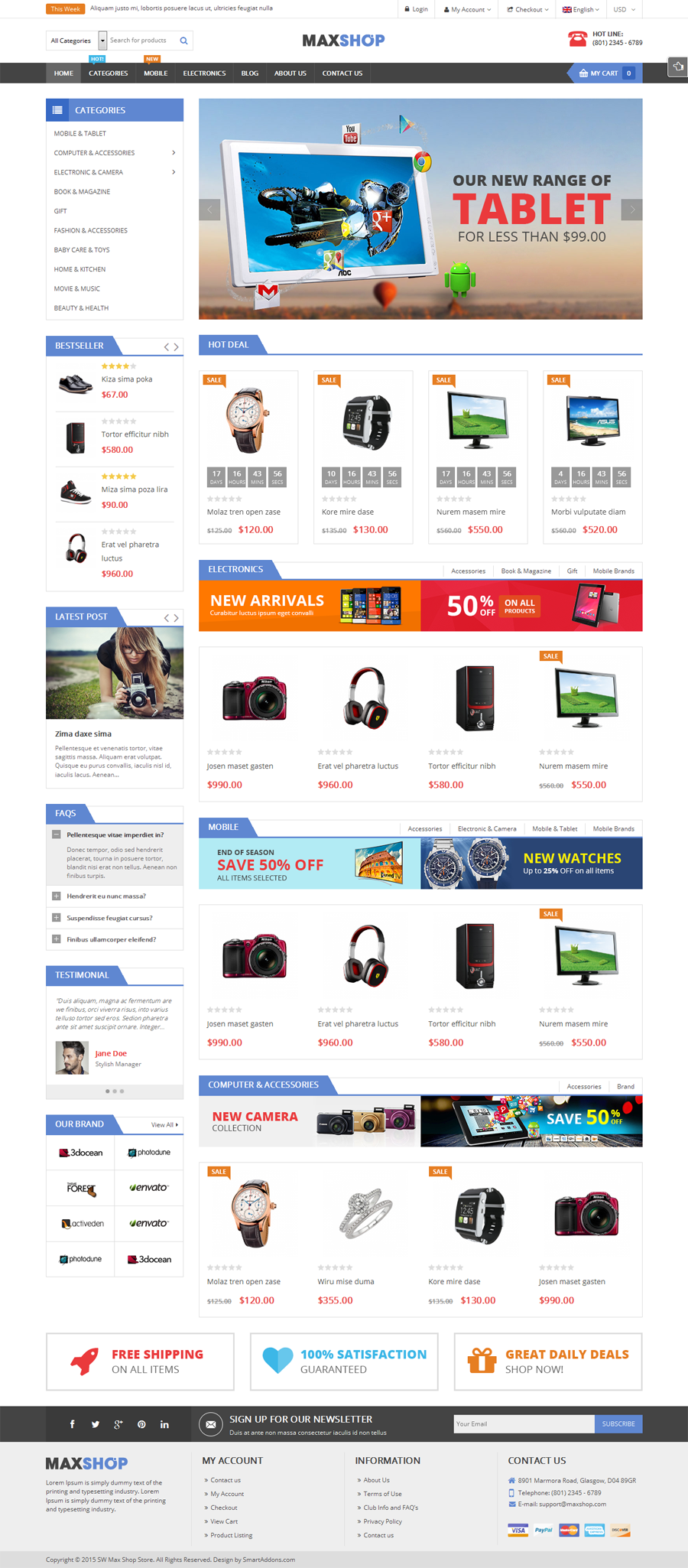 Maxshop Responsive Wordpress Woocommerce Theme By