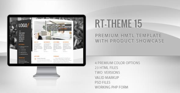 ThemeForest RT-Theme 15 Premium HTML Template 1844484