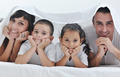 happy young Family in their bedroom - PhotoDune Item for Sale