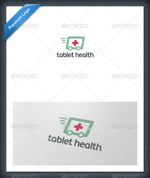 Tablet Health Logo Template