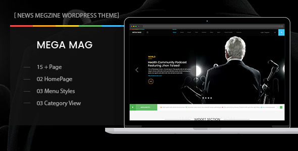 Download MegaMag - News, Newspaper, Magazine, Blog, Viral Content and Review WordPress Theme nulled download