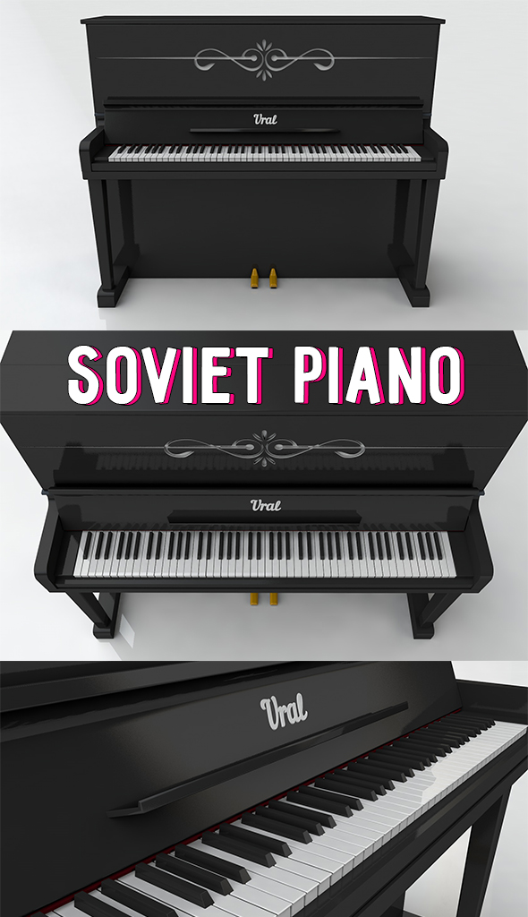 Soviet piano - 3DOcean Item for Sale