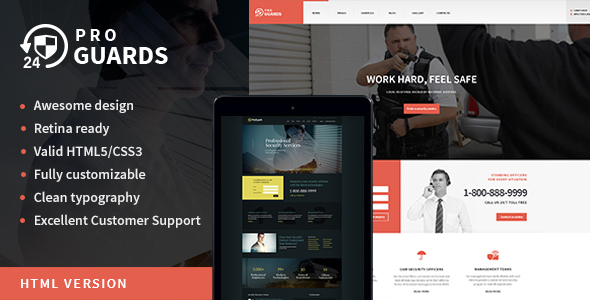 ProGuards | Safety & Security Site Template