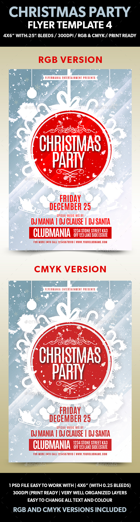 Christmas Party Flyer Template 4