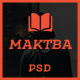 Maktba News / Magazine PSD Template