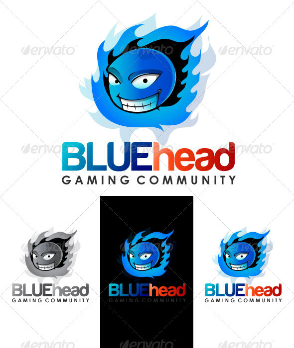 BLUEhead Gaming Community Logo  - Objects Logo Templates
