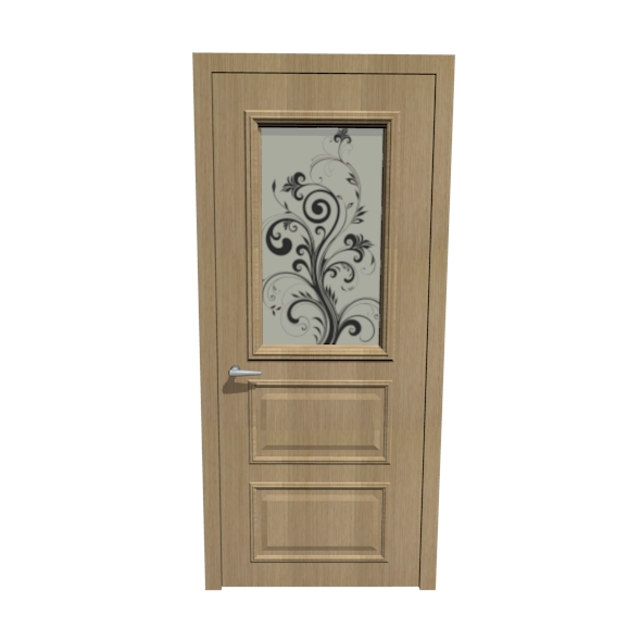 Oak door - 3DOcean Item for Sale