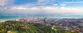 Aerial panorama cityscape of Georgetown, capital of Penang state