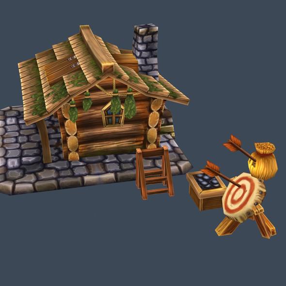 cartoon house 4 - 3DOcean Item for Sale