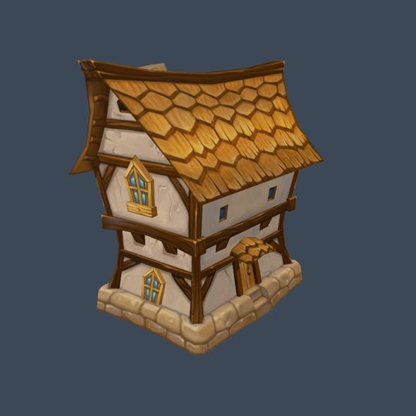 cartoon house 6 - 3DOcean Item for Sale