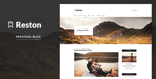 Reston - A Responsive WordPress Blog Theme