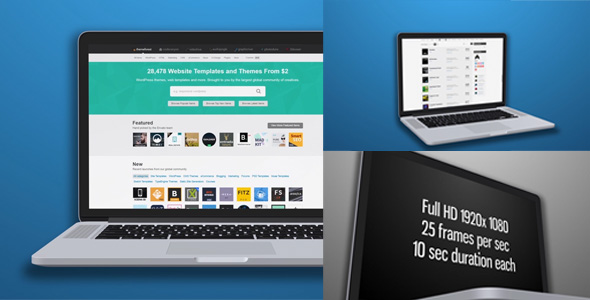 VideoHive Laptop Mock-Up 3 Different Angles 18747168
