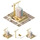 Download Vector Vector Isometric Low Poly Construction Site