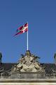 Danish flag flying from the roof of Amalienborg palace