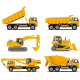 Construction Machinery Vector Set