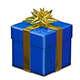 3D Illustration of Red and Blue Gift Box