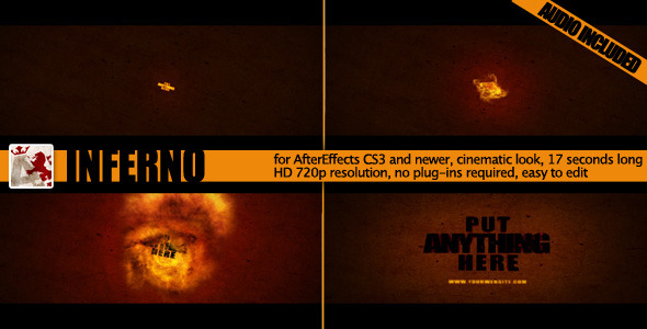 VideoHive Inferno Fire Reveal 1845896