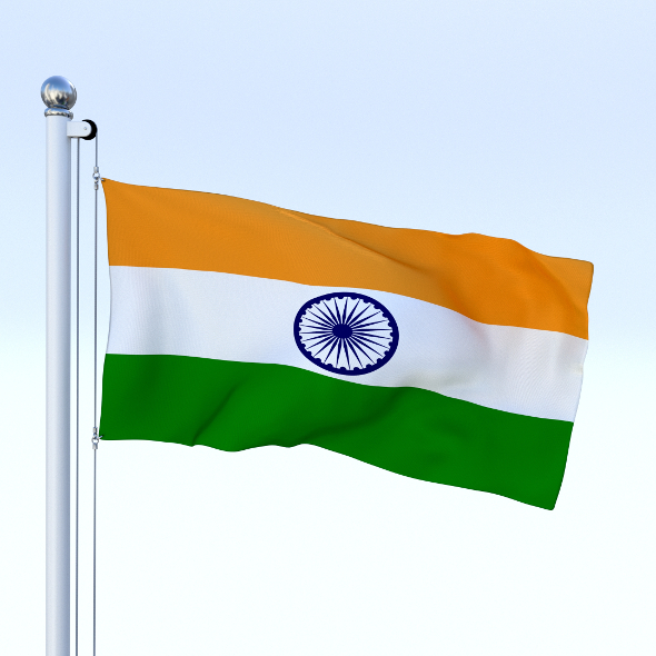 Animated India Flag - 3DOcean Item for Sale