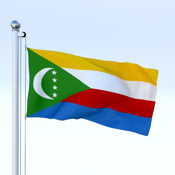 Animated Comoros Flag - 3DOcean Item for Sale