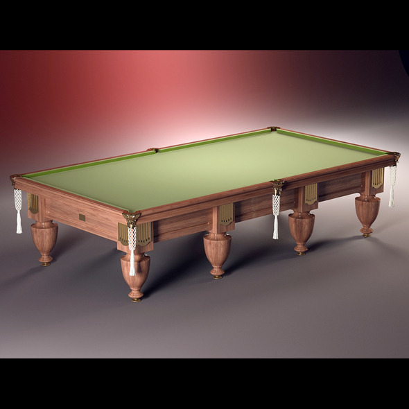 3DOcean High quality model of classic billiard table 1846086