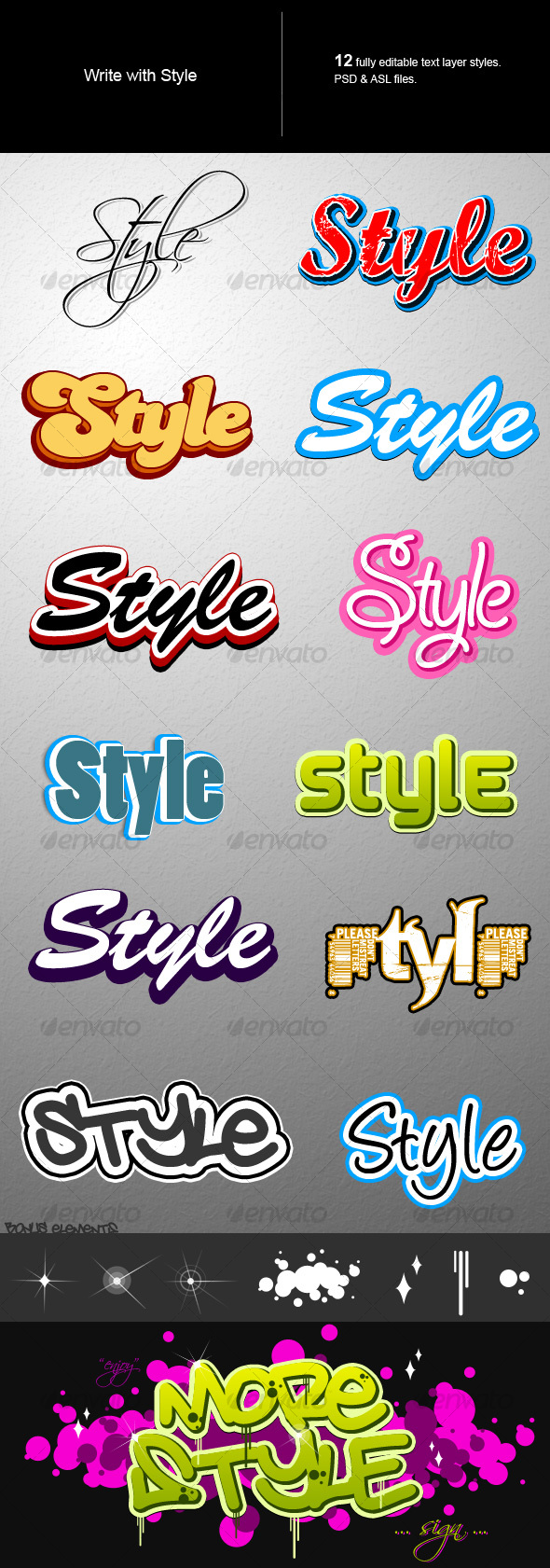 Text style - Text Effects Styles