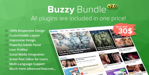 Download Buzzy Bundle - Viral Media Script nulled download