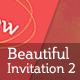 Beautiful Invitation 2 - GraphicRiver Item for Sale
