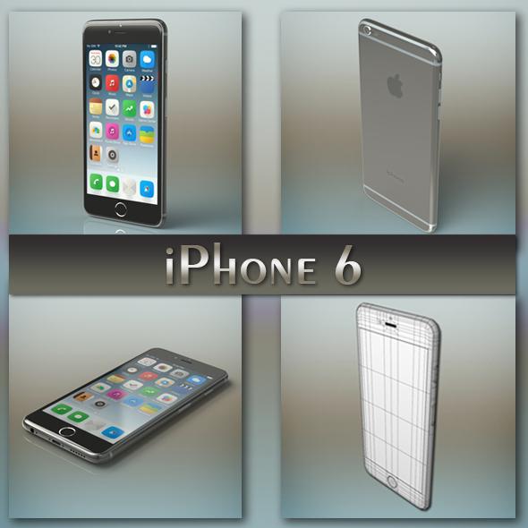 iPhone 6 grey - 3DOcean Item for Sale
