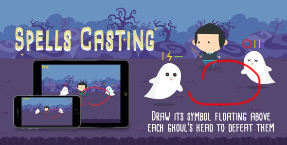 Download Spells Casting - HTML5 Game nulled download