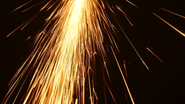 VideoHive Sparks Frying During Metal Grinding 18760420