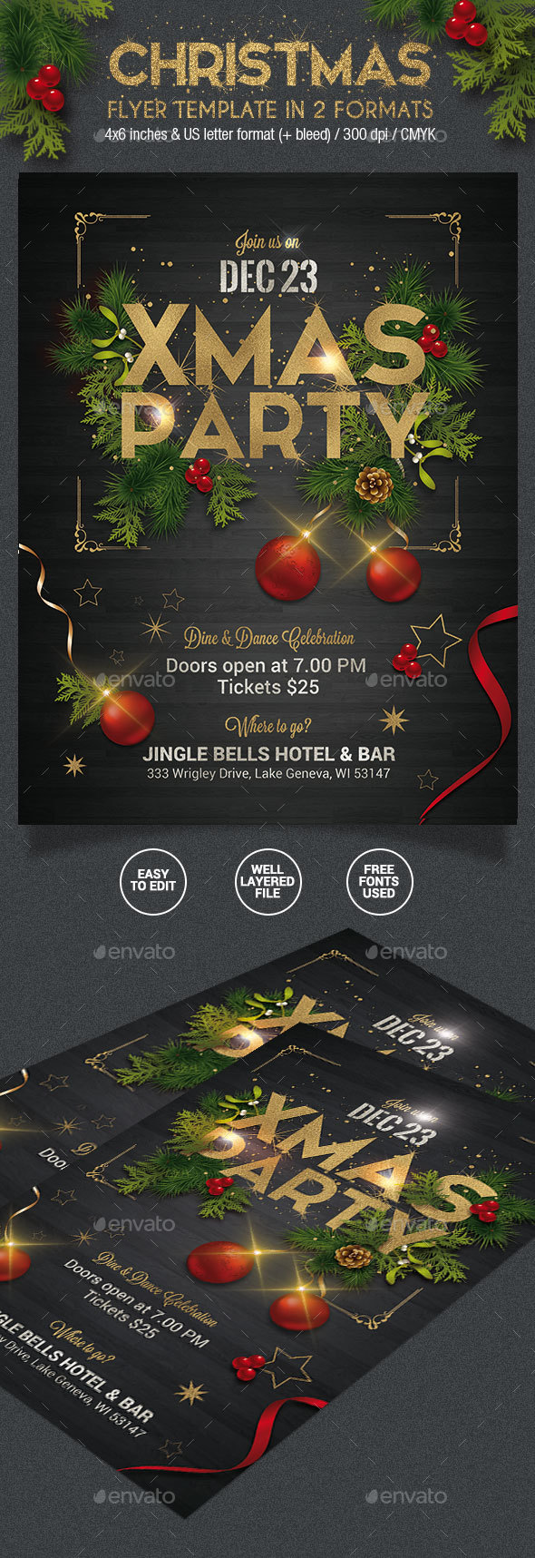 Christmas Party Flyer - 2 Formats