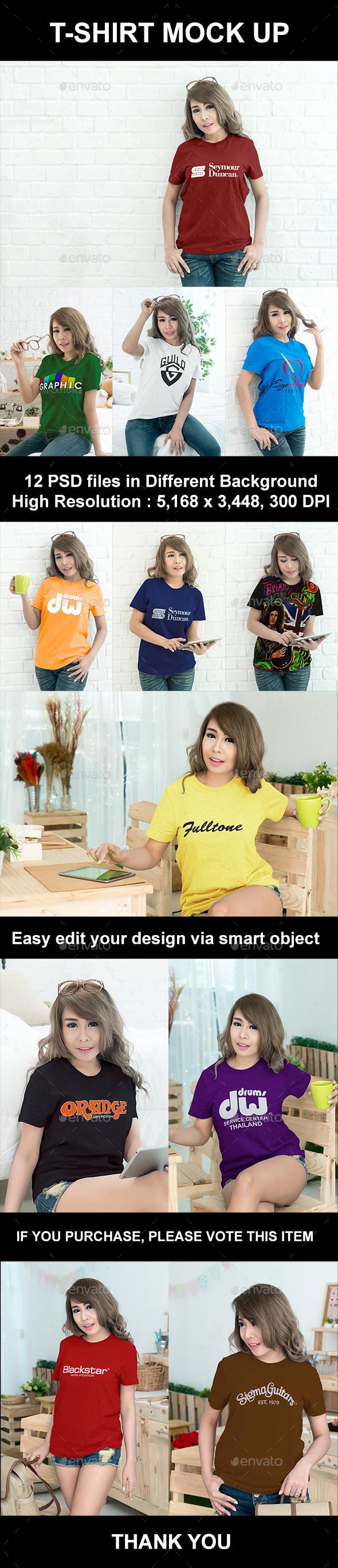 Woman T-Shirt Mock-Up