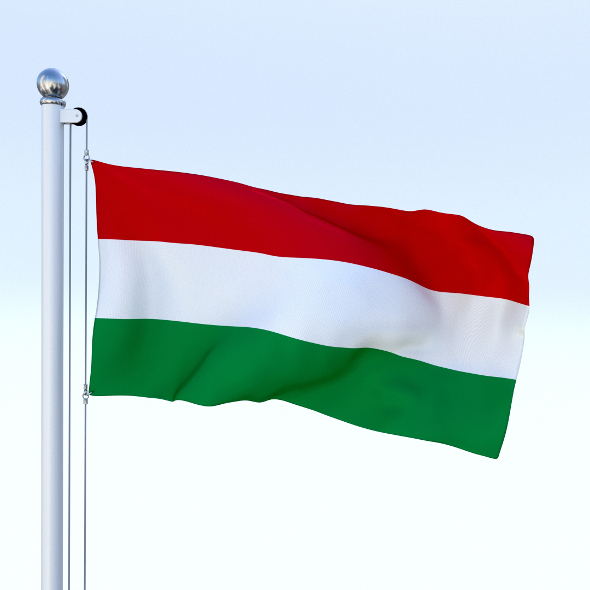Animated Hungary Flag - 3DOcean Item for Sale