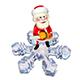 3D Illustration of Santa Claus on a Snowflake