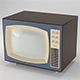 Low Poly Vintage 50s TV