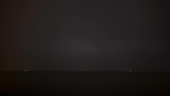 VideoHive Night Thunderstorm Over The Sea 18766472