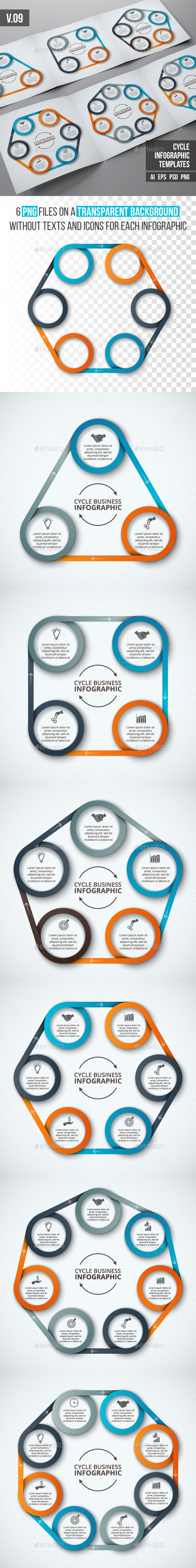 Infographics template set v.09