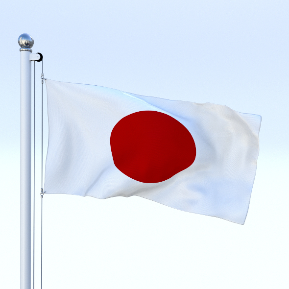 Animated Japan Flag - 3DOcean Item for Sale