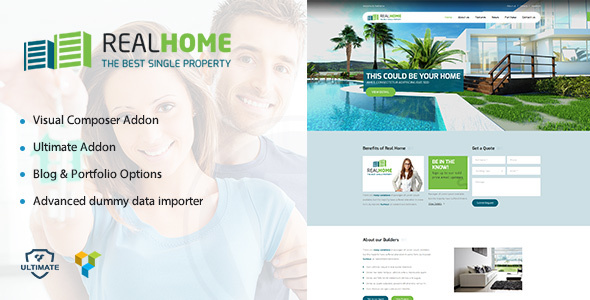 Download Single Property | Real Estate WordPress Theme for Villas nulled download