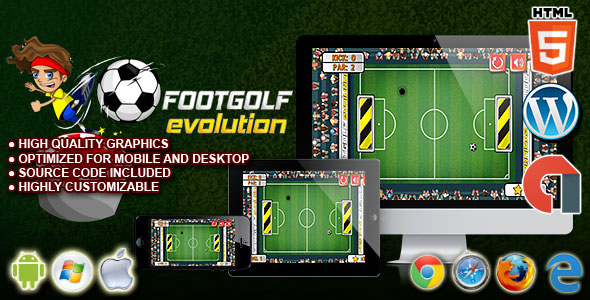 Footgolf Evolution - HTML5 Construct 2 Sport Game