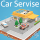 Download Low Poly Car Service (gas station) from 3DOcean